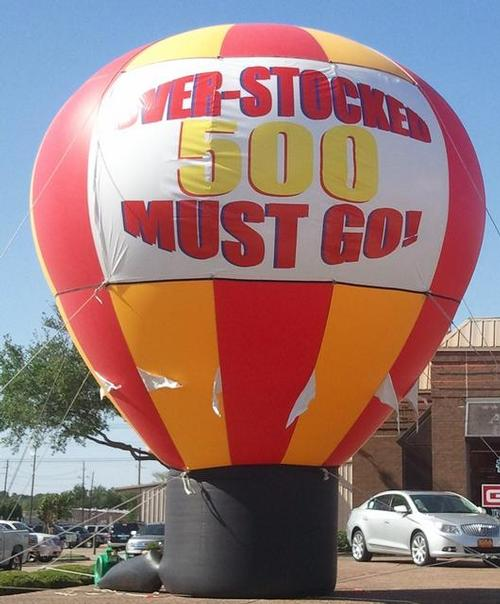 Red and Yellow Hot Air Balloon Inflatable